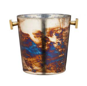 Mercury Fire Glass Sparkling Ice Bucket