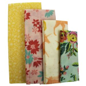 Beeswax Food Covers - Set of 4 - Various Designs