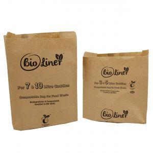 Sample Compostable Paper Bags Pack - Bioliner 3&5L, 7&10L
