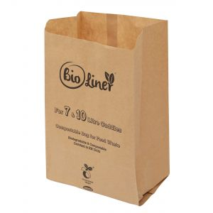 7 & 10L Bioliner Paper Compostable Caddy Liners (Medium)