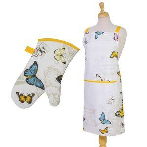 Eddingtons Butterfly - Apron & Single Oven Glove Set