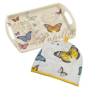 Eddingtons Butterfly - Tea Tray & Tea Cosy Set