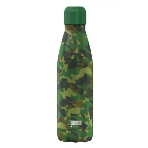 iDrink Insulated Stainless Steel Bottle – Green Camo 500ml