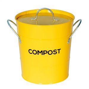 Yellow Metal Compost Pail