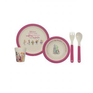 4PC Bamboo Dinner Set - Roald Dahl's Charlie & the Chocolate Factory
