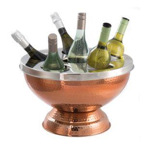 Hammered Copper 6 Bottle Wine & Champagne Cooler