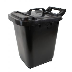Large Kerbside Compost Caddy with Locking Lid - 23L - Black