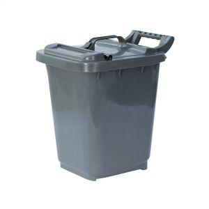 Large Kerbside Compost Caddy with Locking Lid - 23L - Dark Grey