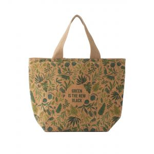 Pure Green is the New Black - Cork Lunch Bag