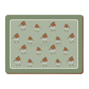 Creative Tops - Into the Wild Robin Placemats  - Set of 4 (LARGE)