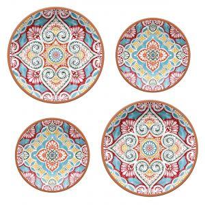 Rio Corte Melamine Dinner & Side Plate Set - 2 Sets