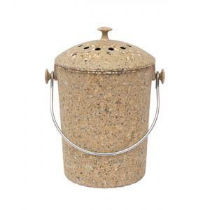 Brown Eco Natural Fibre Compost Pail