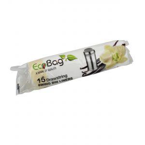 50L EcoBag Drawstring Swing Bin Liners - Vanilla Scented