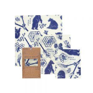 Bee's Wrap Food Covers - Set of 3 - Bee's & Bears Design