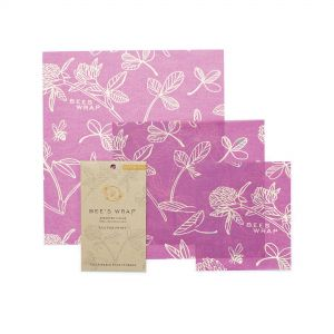 Bee's Wrap Food Covers - Set of 3 - Clover Design