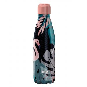 iDrink Insulated Stainless Steel Bottle – Flamingo 500ml