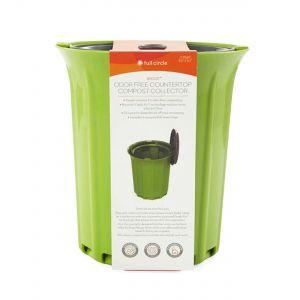 ROUND: Odour-Free Countertop Compost Bin - Green & Grey