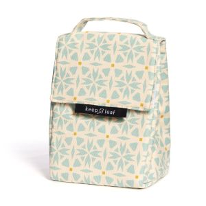 Keep Leaf Insulated Lunch Bag - Geometric Design