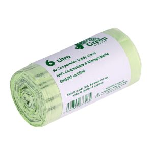 6L Green Giraffe Compostable Kitchen Caddy Liners (Small)