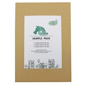 Sample Compostable Bag Pack - Green Giraffe 6L, 8L, 10L