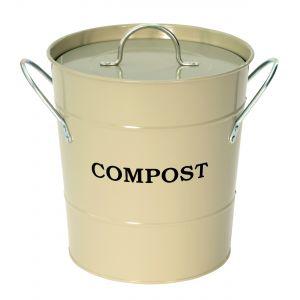 Garden Trading Clay / Grey / Sage - Metal Compost Pail