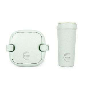 Huski Home - 500ml Travel Cup & Multi-Component Lunch Box - Duck Egg Blue