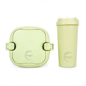 Huski Home - 500ml Travel Cup & Multi-Component Lunch Box - Pistachio Green