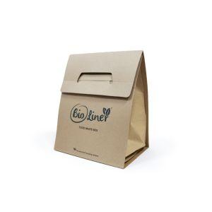 Obeo Bioliner  - 8L Paper Food Waste Box - Pack of Compostable Kitchen Caddies