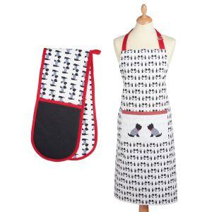 Kitchencraft Kitchen Apron & Double Oven Glove Set - Westie