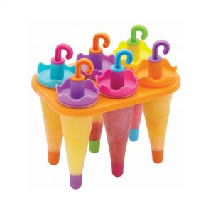 KitchenCraft Umbrella Lolly Maker with Stand - 6 Piece