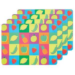 Fruit Placemats - Set of 4