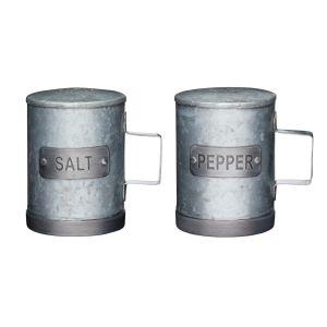 Industrial Metal Salt and Pepper Shaker Set