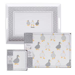 Madison Duck Cork Backed Placemats, Coasters & Melamine Tray Set