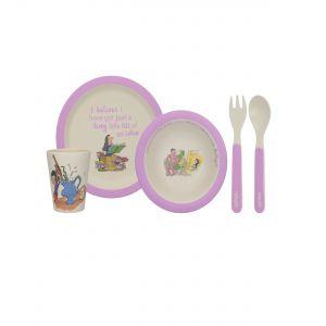 4PC Bamboo Dinner Set - Roald Dahl's Matilda