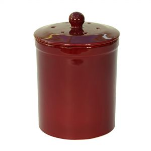 Melbury Ceramic Compost Caddy - Burgundy