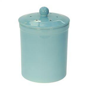 Melbury Ceramic Compost Caddy - Light Blue
