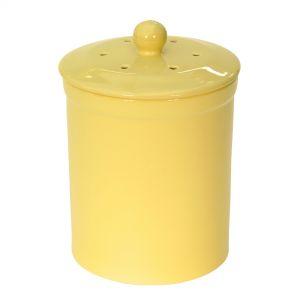 Melbury Ceramic Compost Caddy - Yellow