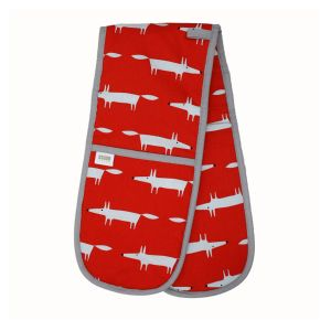 Scion Mr Fox - Double Oven Glove - RED
