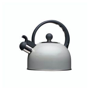 KitchenCraft Nostalgia Traditional Whistling 1.4L Kettle (Grey)