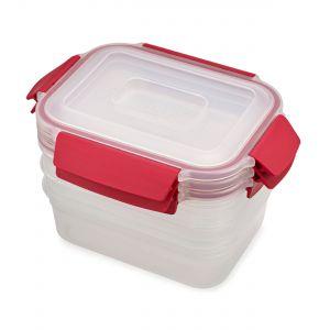Joseph Joseph Nest Lock 3-Piece 1.1L Container Set - Red