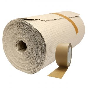Paper Bubble Wrap (50cm) & Self-Adhesive Paper Packaging Tape