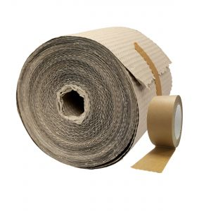 Paper Bubble Wrap (30cm) & Self-Adhesive Paper Packaging Tape