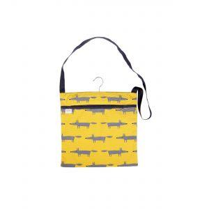 Scion Mr Fox Wipe Clean Peg Bag (Yellow)