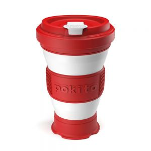 Pokito Pop-Up Cup - Cherry Red