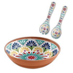 Rio Medallion Melamine Salad Serving Set - 2 piece