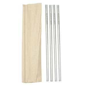 Stainless Steel Single Straw - Set of 4