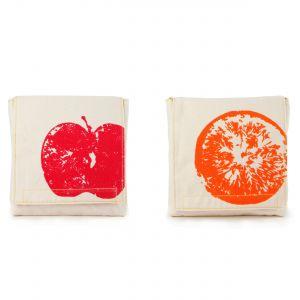 Fluf Snack Pack Set - Apples & Oranges Design