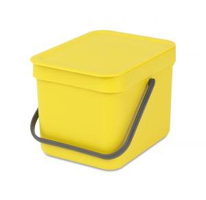 Brabantia Sort & Go Kitchen Caddy - Yellow - 6L Size