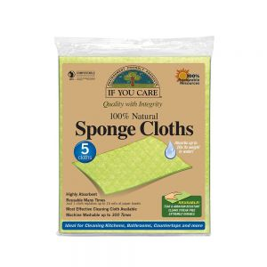 If You Care 100% Natural, Compostable Sponge Cloths - Pack of 5