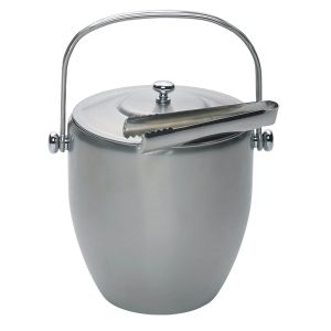 Barcraft Ice Bucket (Lid & Tongs) - Stainless Steel